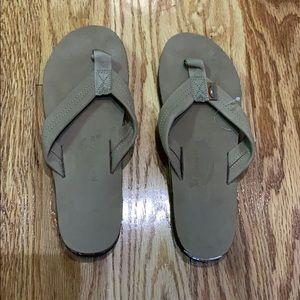 Rainbow leather flip flop sandals XL